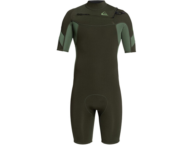 Quiksilver 2/2 Syncro Chest Zip SS Springsuit FLT Men dark ivy/ shade olive